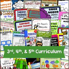 Full Year Curriculum for 3rd, 4th & 5th Grade