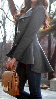 Cupshe Big City Swallow Tail Coat