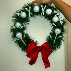 Wonderful Finding The Perfect Golf Birthday Gift Ideas. Blazing Finding The Perfect Golf Birthday Gift Ideas. Golf Club Crafts, Golf Ball Crafts, Christmas Wreaths, Christmas Crafts, Christmas Decorations, Golf Decorations, Christmas Door, Christmas 2019, Golf Chipping