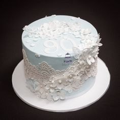 I was truly honoured to make this cake for a lady turning 90 this week, the mandate was flowers, butterflies and pale blue.