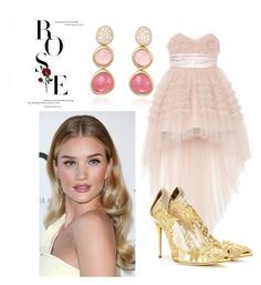 """Rose"" by melady0202 on Polyvore featuring мода, Whiteley, Yves Saint Laurent, Fred и Oscar de la Renta"