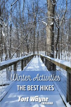 Looking to wander local woods and wetlands this winter? Winter hiking holds a flavor all its own in Fort Wayne, Indiana. Fort Wayne Indiana, Winter Hiking, Best Hikes, Outdoor Adventures, Winter Activities, Wander, Woods, Trail, Park