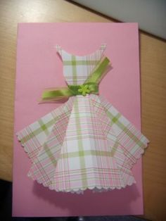 yes, i'm into dress cards lately. :) with template