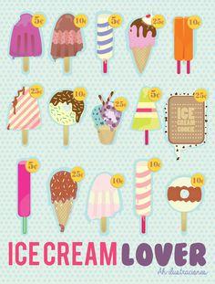 Ice Cream love Illustration by Ah Ilustraciones