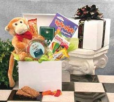 This thoughtful and fun get well care package is a great gift for someone who's under the weather or going through a rough time. The Hang in There plush monkey is sure to bring a smile, and the healthy treats inside the white gloss gift box will brighten anyone's day. Send this... more details available at https://perfect-gifts.bestselleroutlets.com/gifts-for-women/grocery-gourmet-food-gifts-for-women/product-review-for-brighter-days-ahead-get-well-snack-gift-basket