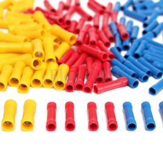 50Pcs Insulated Butt Wire Connector Crimp Terminal 10-22AWG 0.5-6.0mm² PVC Kit