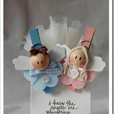 Ste creazioni: Due angeli per due gemelli…