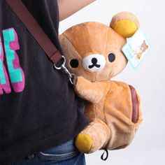 Shoulder Bags Spirited 1 Piece Rilakkuma Cute Big Bag Handbag Shoulder Plush Relax Brown Bear Bag Luggage & Bags