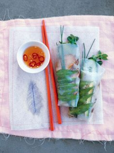 Donna Hay's Rice Paper Rolls. http://www.donnahay.com.au/recipes/basics/rice-paper-rolls
