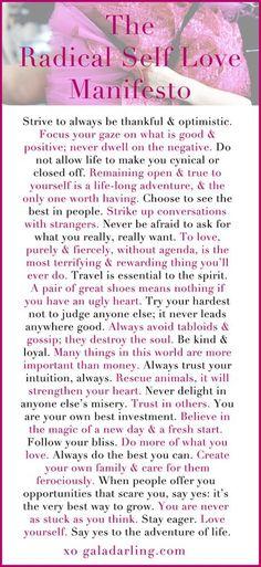 self love manifesto