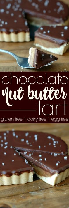 This easy prep chocolate nut butter tart is rich and decadent using all real food ingredients!