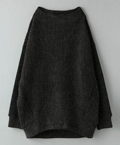 JEANASIS(ジーナシス)のBACKボリュームプルオーバーLS/711007 (Tシャツ/カットソー)|チャコールグレー