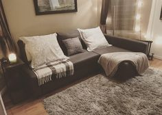 {{IKEA FRIHETEN}}This beauty just made it into my living room and I couldn't be happier!!! It's amazing and convenient... it has built in storage!!