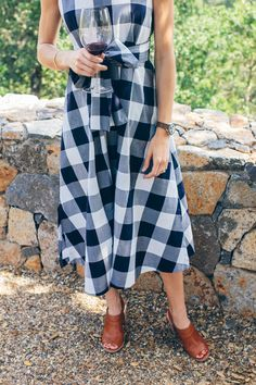 gingham dress —via @TheFoxandShe waysify