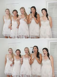 Bridesmaids reaction! A MUST have photo that I wouldn't have thought of!
