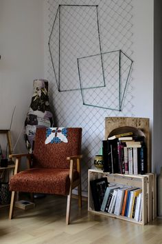 Storing books in a bohemian way