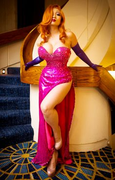 """This is in """"Good Cosplay,"""" but this looks too perfect to actually be cosplay. (Jessica Rabbit from """"Who Framed Roger Rabbit"""")"""