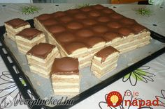 Piškótové Tango rezy s pudingovým krémom! Sweet Cookies, Cake Cookies, Cupcake Cakes, Sweet Treats, Czech Desserts, Cookie Desserts, Czech Recipes, Hungarian Recipes, Healthy Sweets