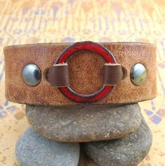 Leather Wrist Cuff made from Recycled Leather Belt by dinglewear, via Flickr