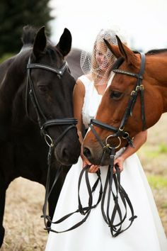 omg i LOVE this!! i want a pic like this someday :-) #horses #wedding #contrast