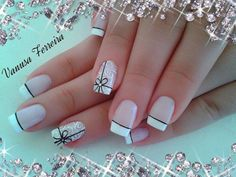 45 Awe-Inspiring French Manicure Ideas to Show Off the Most Stylish Nails Crazy Nails, Fancy Nails, Pretty Nails, Hair And Nails, My Nails, Vacation Nails, Simple Acrylic Nails, French Tip Nails, Beautiful Nail Designs