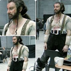 The Hobbit behind The scenes BTS - Richard Armitage (Thorin) on The set