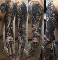 Creepy tattoo. Love it!