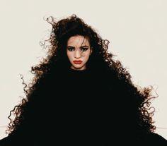Farida Khelfa, Paris, 1985. Photo by Jean-Paul Goude.
