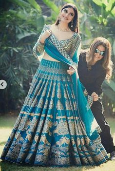 Rama Printed Attractive Party Wear Lehenga Choli with Matching Color unstiched blouse. The Lehenga can be customized up to bust size 44 , Lehenga Length 48 , Waist size 38 , and Dupatta size Mtr. Blue Lehenga, Indian Bridal Lehenga, Silk Lehenga, Lehenga Wedding Bridal, Anarkali Lehenga, Bollywood Lehenga, Red Saree, Bollywood Style, Sharara
