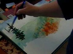 ▶ Smokey Mountain Watercolor Demo - YouTube