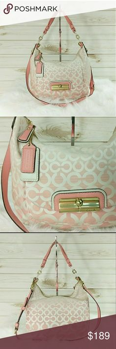 Coach Kristen Op Art Ombre Hobo Crossbody Bag Coach Kristen Op Art Ombre Hobo Bag In like new condition, showing no signs of wear. This bag is absolutely beautiful.  1217-147 Coach Bags Shoulder Bags