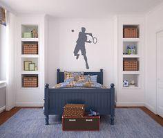 Jumping Hit Tennis Mens Wall Sticker Sport And Hobbies Wall Art Decal Transfers | eBay