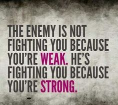 The enemy is the real weak link.
