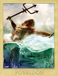 """Poseidon was the god of the sea, storms, and, as """"Earth-Shaker,"""" of earthquakes in Greek mythology. The name of the sea-god Nethuns in Etruscan was adopted in Latin for Neptune in Roman mythology: . Greek Gods And Goddesses, Greek And Roman Mythology, Virgo, Poseidon, Tarot, Roman Gods, Ancient Greece, Aphrodite, Fantasy Art"""