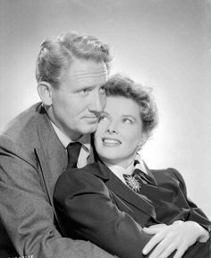 """Spencer Tracy and Katharine Hepburn in """"Without Love"""" (1941)"""