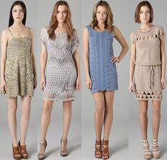 Inspiration - crochet dresses (1st and 3rd are knit)...interesting how retail just lumps knit and crochet into crochet