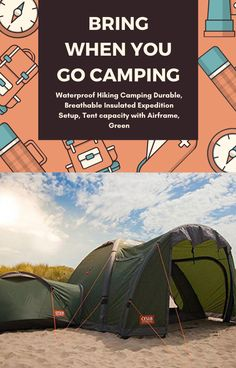 Go Camping, Outdoor Gear, Tent, Hiking, Outdoors, Green, Sports, Walks, Hs Sports