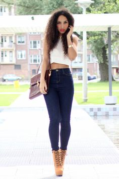 how to wear timberland heels outfit