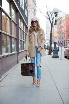 Topshop Camel Coat (wearing a size 0 petite) // Urban Outfitters Blush Bodysuit // BlankNYC Jeans via Nordstrom (wearing a size 24) //Urban Outfitters Blush Beanie // Nasty Gal SquareSunglasses // Christian Louboutin 'So Kate' Pumps // Louis Vuitton Neverfull MM Bag It's no secret that I love this camel coat (last seen here and …