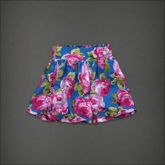 NWT Abercrombie & Fitch Women Beautiful & Sexy Floral Mini / Short Skirt L