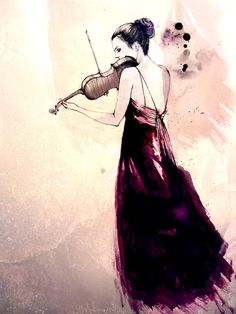 concerto by thecatspaw - Illustrations by Sarah Bochaton  <3 <3