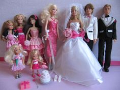 Barbie Ken Chelsea Skipper Kelly Stacie Fairytale Wedding Party I Can Be A Bride In Dolls Bears Contemporary