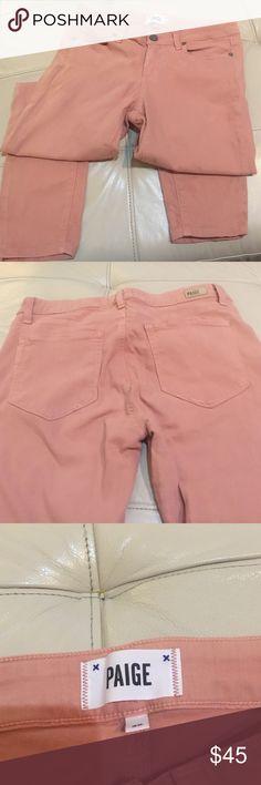 """Paige Jeans Coral colored Paige Verdugo Crop jeans. Inseam 26"""" Paige Jeans Jeans Ankle & Cropped"""