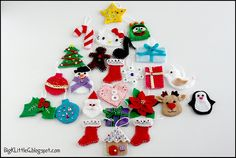 DIY Felt Christmas Tree Ornaments Lead home inspection Christmas Tree Advent Calendar, Diy Felt Christmas Tree, Christmas Craft Fair, Little Christmas Trees, Christmas Sewing, Christmas Tree Themes, Handmade Christmas, Christmas Ideas, Felt Diy