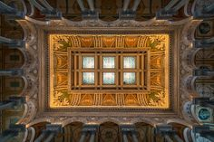 Great hal ceiling, library of congress by Steve Gadomski