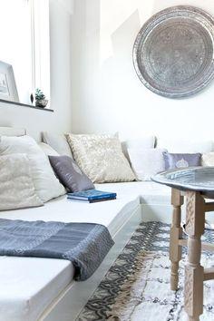 Beautiful detail shot of a living room corner.