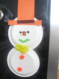Sneeuwpop van borden