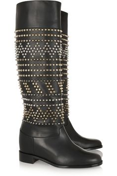 Christian Louboutin Rom Chic 60 spiked leather knee boots NET-A-PORTER.COM