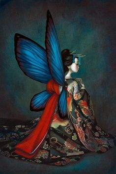 """Benjamin Lacombe is a French author and illustrator born in Paris on July He is one of the head representatives of the new French illustration. Madame Butterfly, Butterfly Art, Butterflies, Butterfly Painting, Art And Illustration, Butterfly Illustration, Fantasy Kunst, Fantasy Art, Art Papillon"