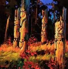 "Haida Gwaii in its Golden hour #2 by Michael O'Toole Acrylic ~ 36"" x 36"""